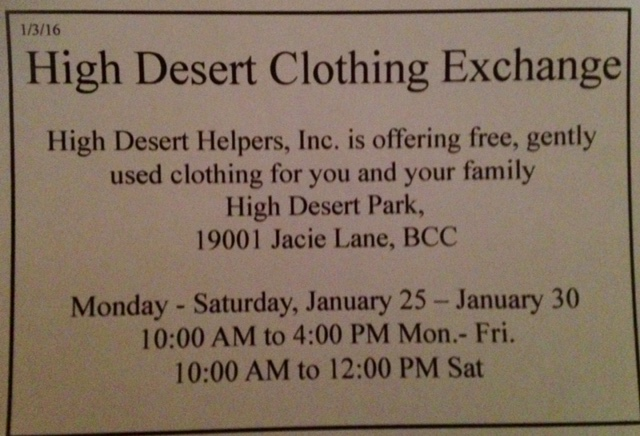 HDH clothing exchange 2016